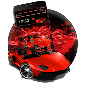 Red Speed Car Theme