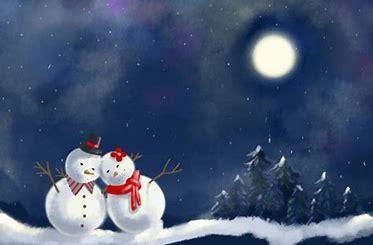 Bildergebnis für schneemann nacht