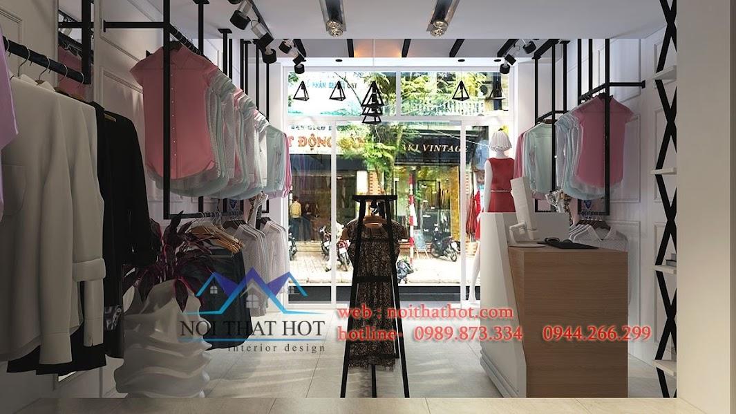 thiết kế shop thời trang nữ trẻ trung