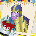 Infinity Hero Glove: Coloring Pages APK