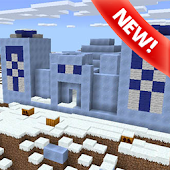 Igloo Village map for MCPE