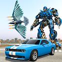 Flying Eagle Robot Car - Robot Transforming Games icon