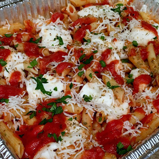 Easy Make Ahead Baked Ziti.