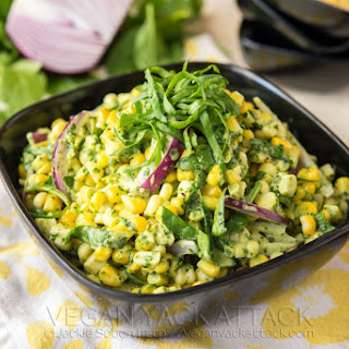 Summer Corn Salad with Basil Pesto Aioli