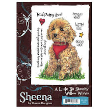 Sheena Douglass A Little Bit Sketchy A6 Stamp Set - Willow Wishes UTGÅENDE
