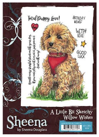 Sheena Douglass A Little Bit Sketchy A6 Stamp Set - Willow Wishes UTGÅENDE
