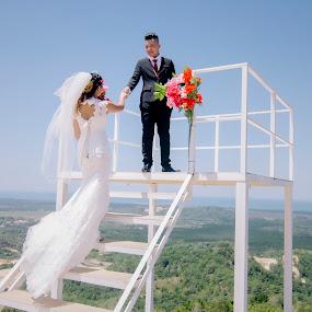 wedding ceremony by Llurymhays Pwbs - Wedding Bride & Groom ( the best moment )