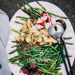 Grilled Asparagus + French Lentil Niçoise Salad