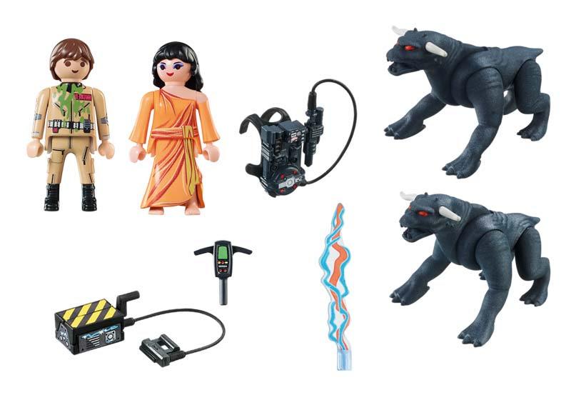 Contenido Real de Playmobil® 9223 Venkman, Dana y Perros de Gozer