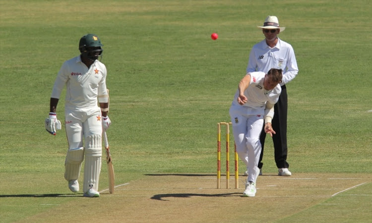 Dale Steyn of South Africa during day 1 of the 3 Day Tour match between SA Invitation XI and Zimbabwe at Eurolux Boland Park on December 20, 2017 in Paarl.