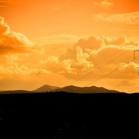 slastary by Morag Soszka - Landscapes Cloud Formations ( clouds, hills, scotland, pilons )