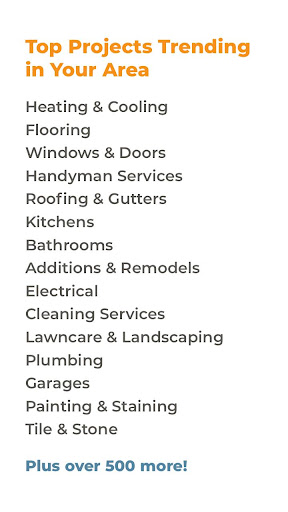 HomeAdvisor: Contractors for Home Improvement screenshot