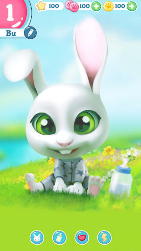 Bu the virtual Bunny - Cute pet care game 2.7 screenshots 1
