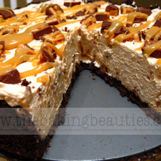 Easy Snickers Bar Pie - Gluten-free too!