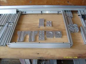Photo: Bottom Row: Gen II Motion Parts  Top Row, left: 2 Gen III universal blocks, right: Gen 0 parts ;-) (Current: Gen IV)