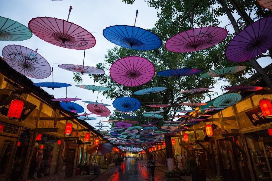 Anren old town 2 by Xianwen Xu - City,  Street & Park  Street Scenes ( 2018, street, sichuan, old town, evening, leica )