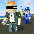 Blocky Police Craft Running Thief Chase Simulator
