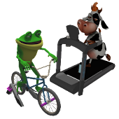 Arcade Fitness for Bike Trainer or Treadmill