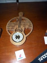 Photo: Tim's guitar clock won 2nd prize