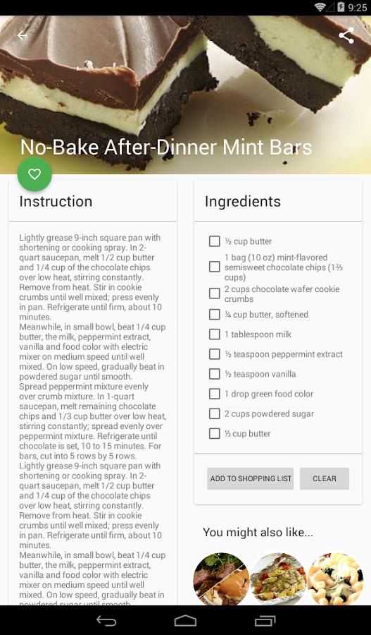 Dinner Ideas Recipes Screenshot