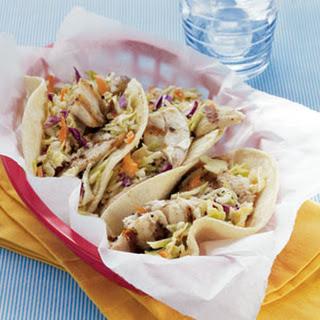 Fish Tacos with Sesame Ginger Slaw