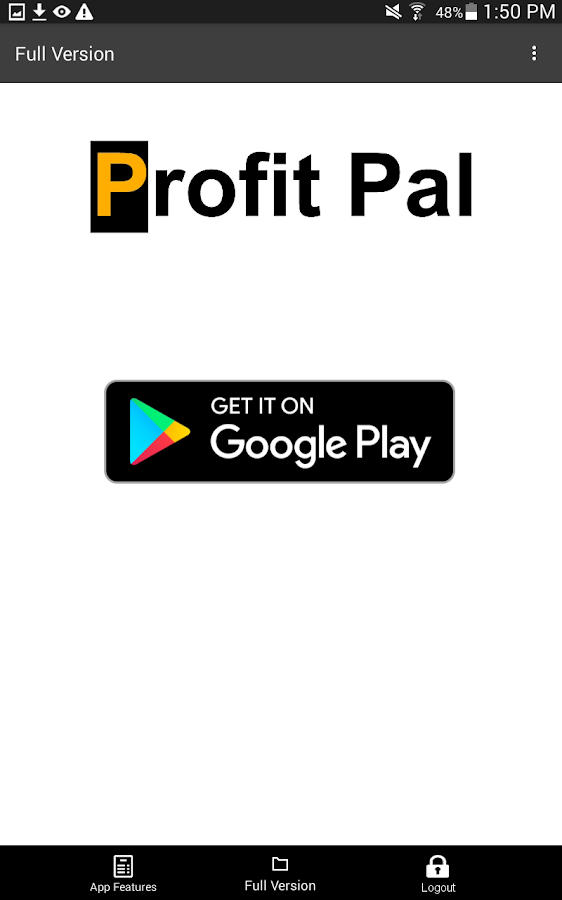 Profit Pal Lite App- screenshot