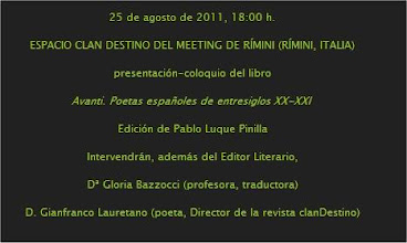 Photo: Presentación en el Espacio clanDestino - Meeting Rímini 25/ago/2011