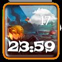 Halloween Weather Clock Widget icon