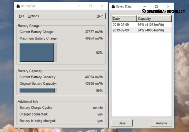 Phần mềm Battery Cat