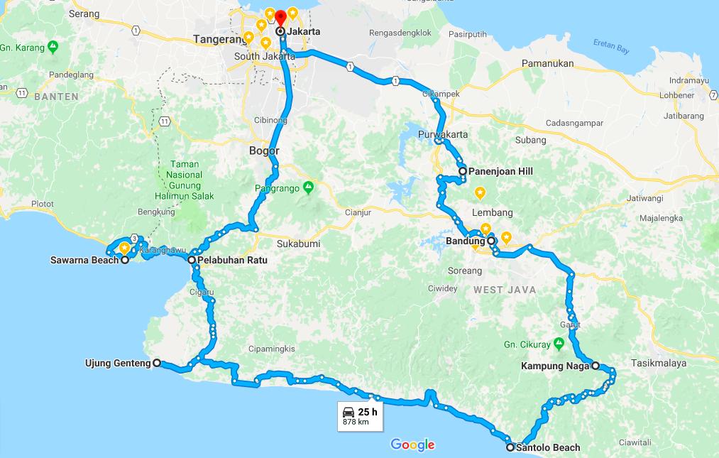 rute road trip di jawa barat
