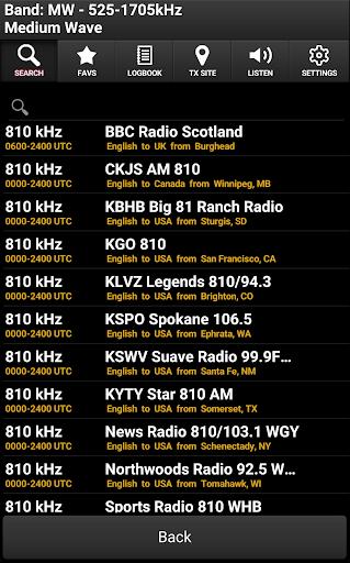 Skywave Schedules screenshot 2