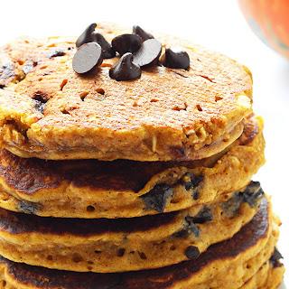 Pumpkin Chocolate Chip Oatmeal Cookie Pancakes