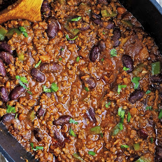 New Year's Eve Beef Chili.