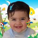 Photo beautiful kids icon
