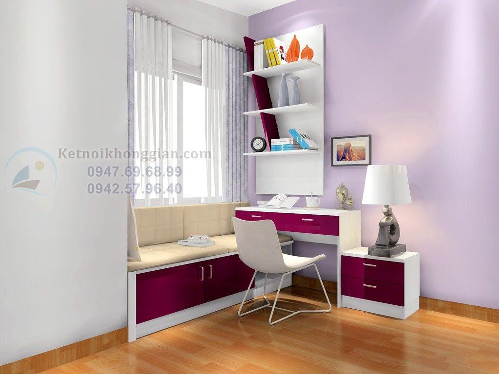 thiết kế phòng ngủ 15m2 nữ tính
