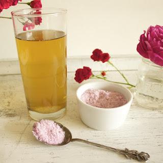 Iced Green Tea with Rose Sugar