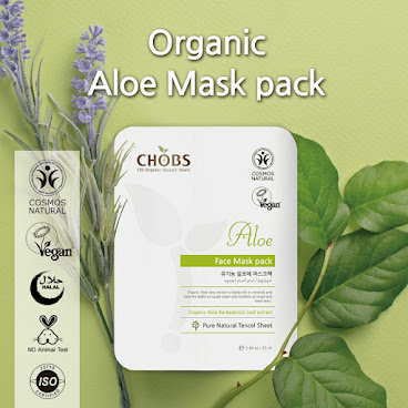 (CHOBS) Organic Tencel Mask - Aloe 有機天絲面膜 - 蘆薈