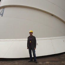 Photo: That huge pipe flows water to a huge turbine (photo credit: Raj Dhar)