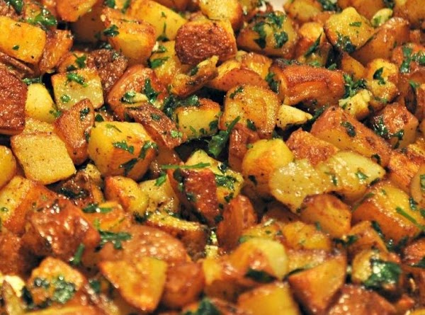 Parsley Potatoes/w Bread Cubes Recipe