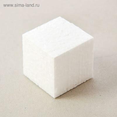 """Набор заготовок из пенопласта """"Кубик"""", 3 см, 20 шт"""