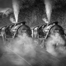 Rawtenstall Station by Stephen Hooton - Transportation Trains ( uk, transport, steam train, trains, photoshop )
