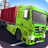 Blocky Truck Simulator 2018
