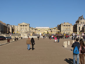 Photo: And here we are at Versailles...don't have a clue how long the line is...