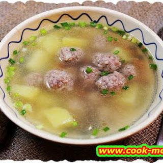 Meatballs Soup.