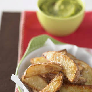 Baked Potato Wedges with Guacamole.