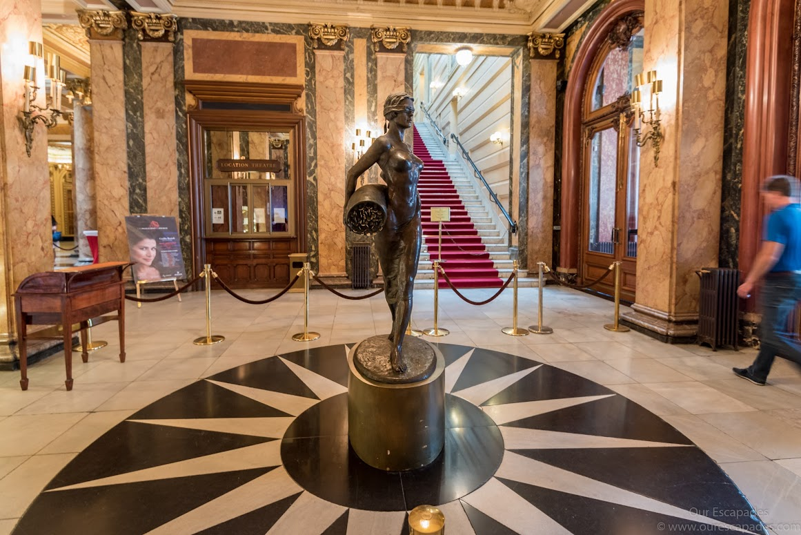 Inside Monte Carlo Casino. Be sure to dress up and show your ID card to enter the gaming area