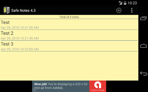 Safe Notes Pro Secure NotePad- screenshot thumbnail