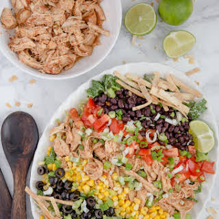 Chicken Taco Salad With Salsa Ranch Dressing.