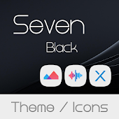 Seven Black Theme + Icons