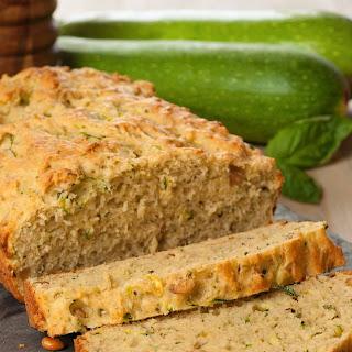 Savory Pesto Zucchini Bread.